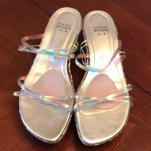 Stuart Weitzman wedge sandals size 9 1/2
